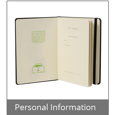 Standard Eco Notebook Personal Information