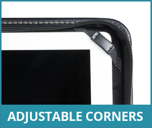 Tablet Holder Adjustable Corners