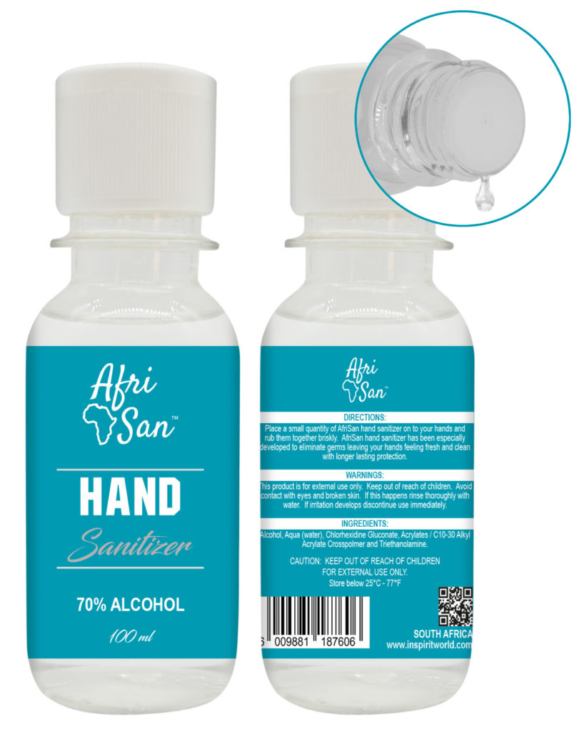 100ml bottle hand sanitizer