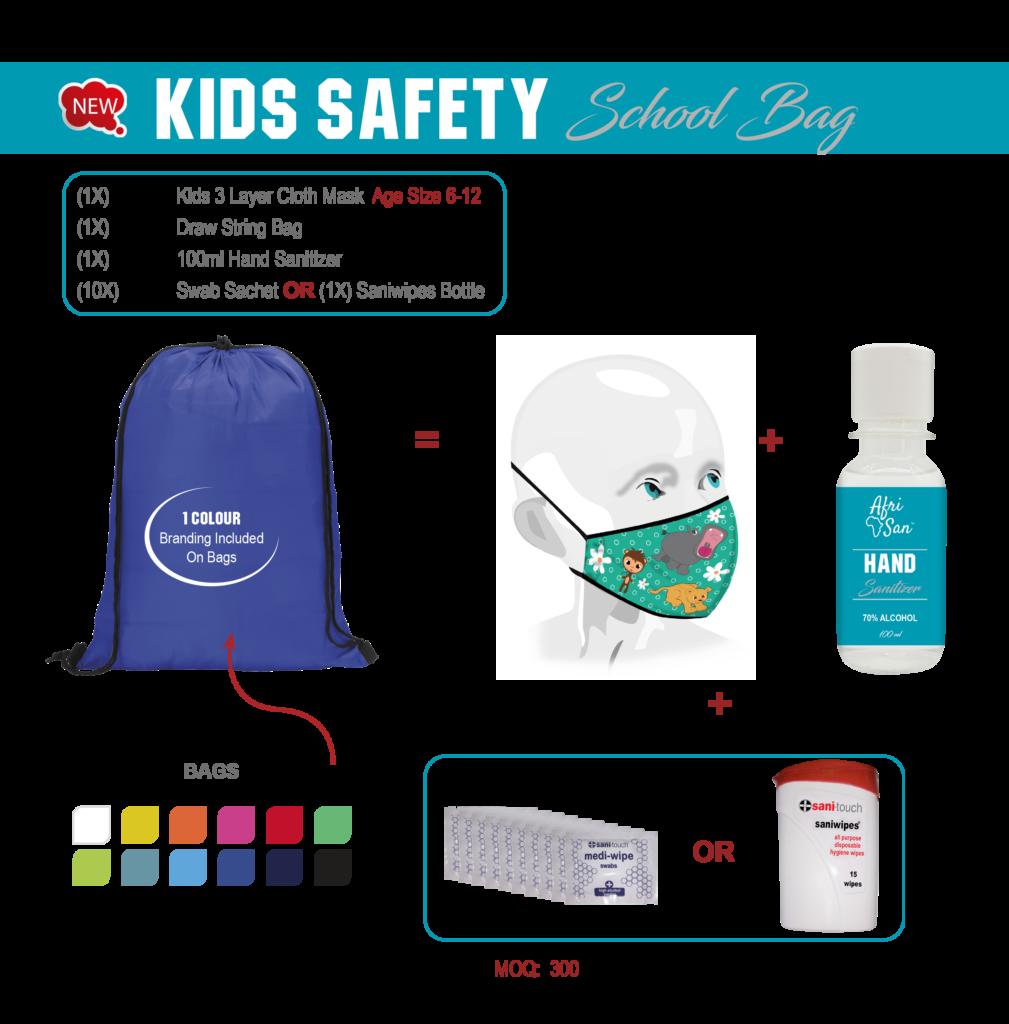 Kids Safety Packs & Masks
