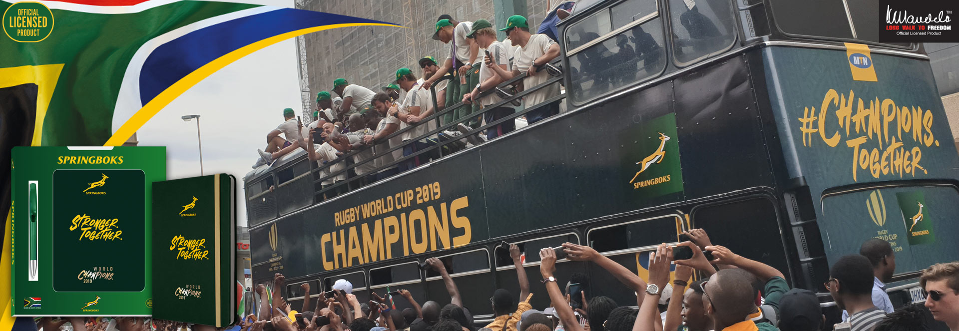 Springboks Champions Notebook and Gift Set
