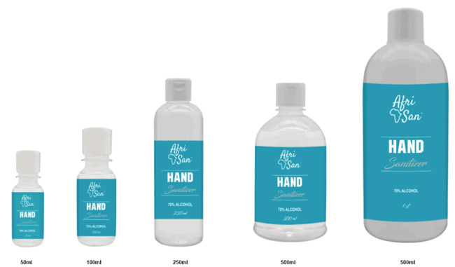 Hand Sanitizers Available