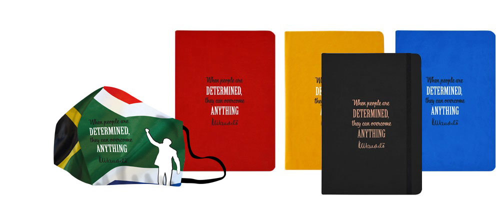 Mandela-day-face-masks-eco-notebooks-flag