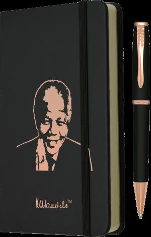11 MANDELA GIFT SET - A6 Hard Cover Notebook and Pen